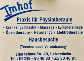 Physiotherapie Imhof in Uelversheim